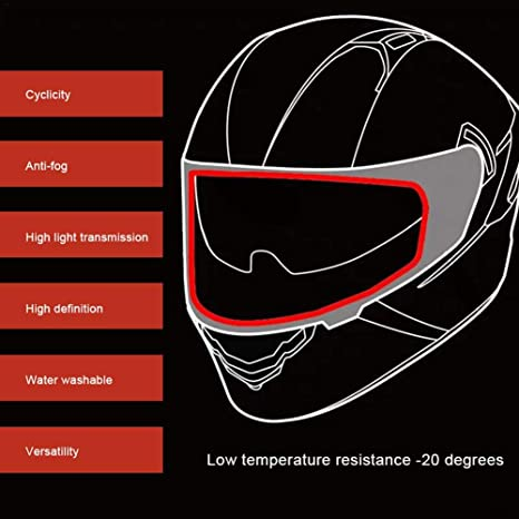 Rvest Motorrad Helm Linse Anti Beschlag Folie Universal Helm Anti Beschlag Visier Regen Und Antibeschlagfolie Für Motorradhelm Universalhelm Patchfolie Küche Haushalt