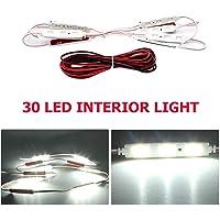 Car Interior Lights Kit 30 LED - Waterproof 12v LED LIGHT Kit Project Lens Lighting Lamp Work Light Ceiling Light Ultra…