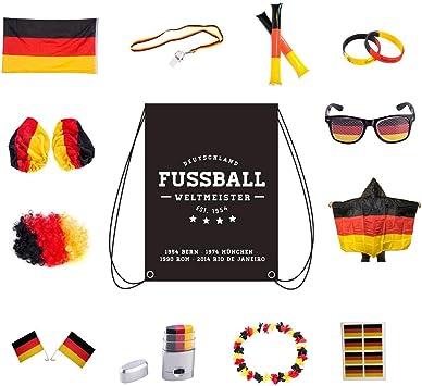 Conjunto de artículos Umoi para fans de Alemania, para aficionados de las olimpiadas o el fútbol, Herren-Set: Amazon.es: Deportes y aire libre