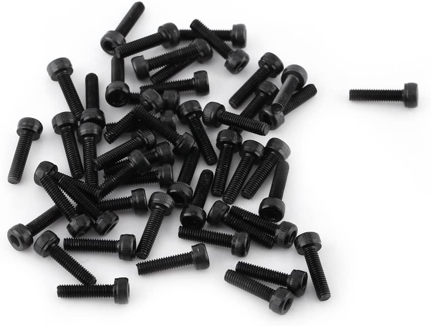 Vollgewinde M3 Black Hex Sockel Kappe Kopf Schrauben Set 12,9 Grad Legierung Kohlenstoffstahl DIN912 4-50mm Plain Finish 50pcs M3*4mm Vollgewinde