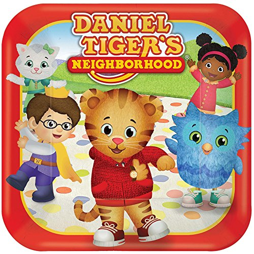 American Greetings Daniel Tiger Paper Dessert Plates, 8-Count]()