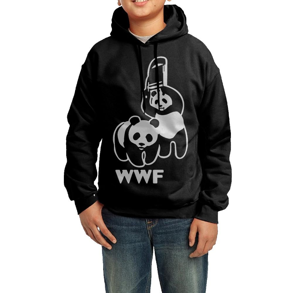 WWF Funny Panda Bear Wrestling Adolescent Sweater,Long Sleeve Coat For Boy by GssWx-07
