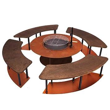Design Feuerstelle ferrum design feuerstelle circle komplett stahlblech 6 teilig