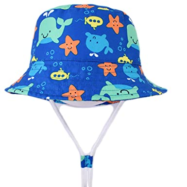 Children Boys Cartoon Dinosaur Bucket Hat Cotton Summer Beach Kids Baby Sun Cap Clothing, Shoes & Accessories Hats