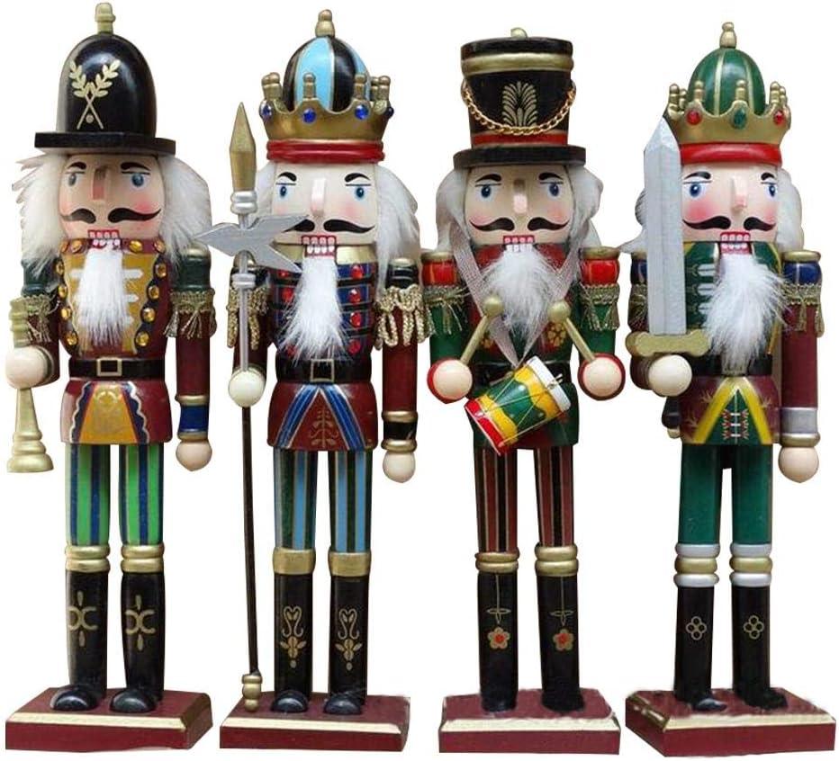 precauti Cascanueces Marioneta Madera Soldado Decoraciones Navideñas Decorativo Restaurante Porche Habitación Adornos Pequeños Títeres Figuras Muñecas Juguete
