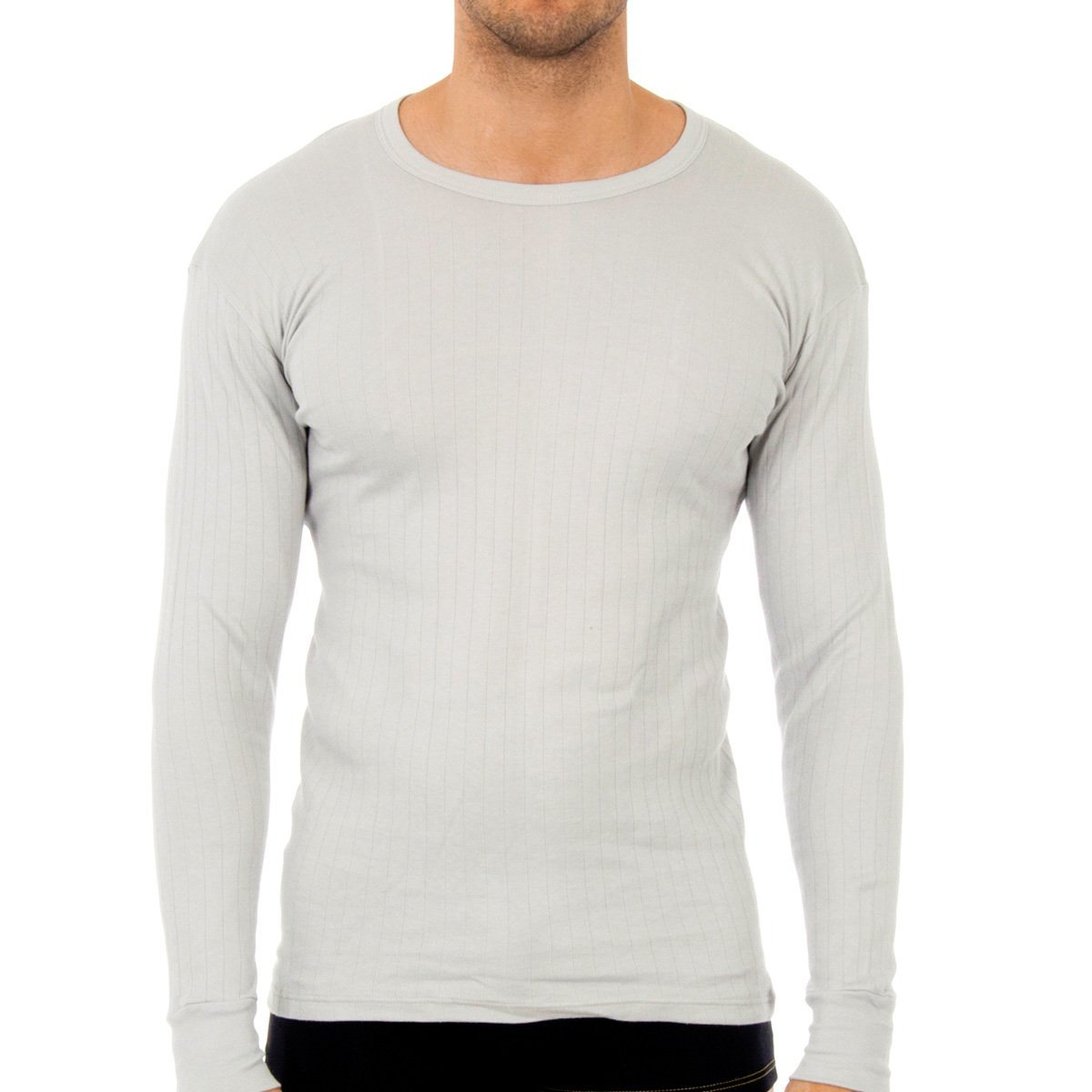 Abanderado Termal Algod/ón Invierno C//Redondo Camiseta t/érmica para Hombre