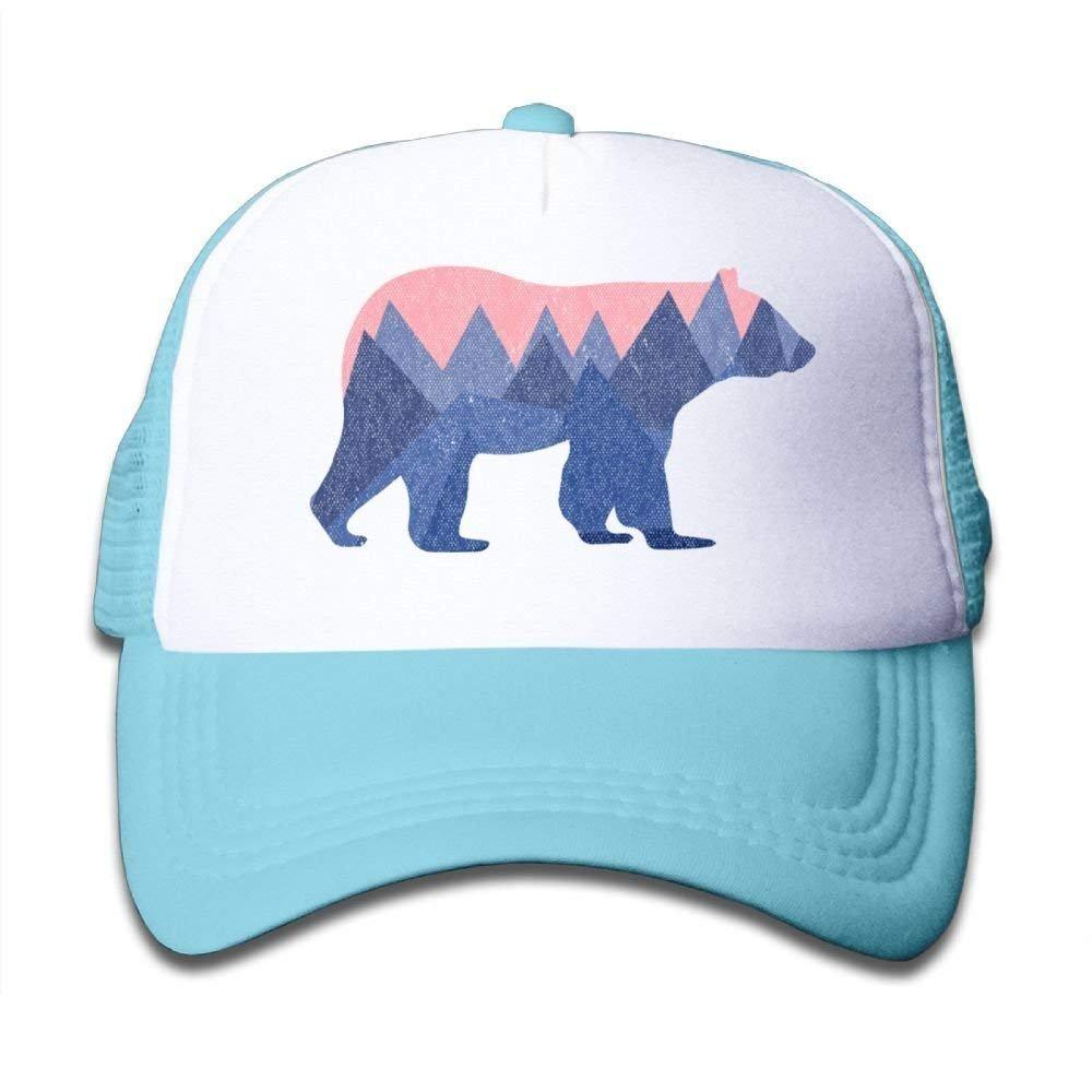 FEAIYEA Boys Girls Bear Mountain Youth Toddler Mesh Hats Baseball Trucker Cap
