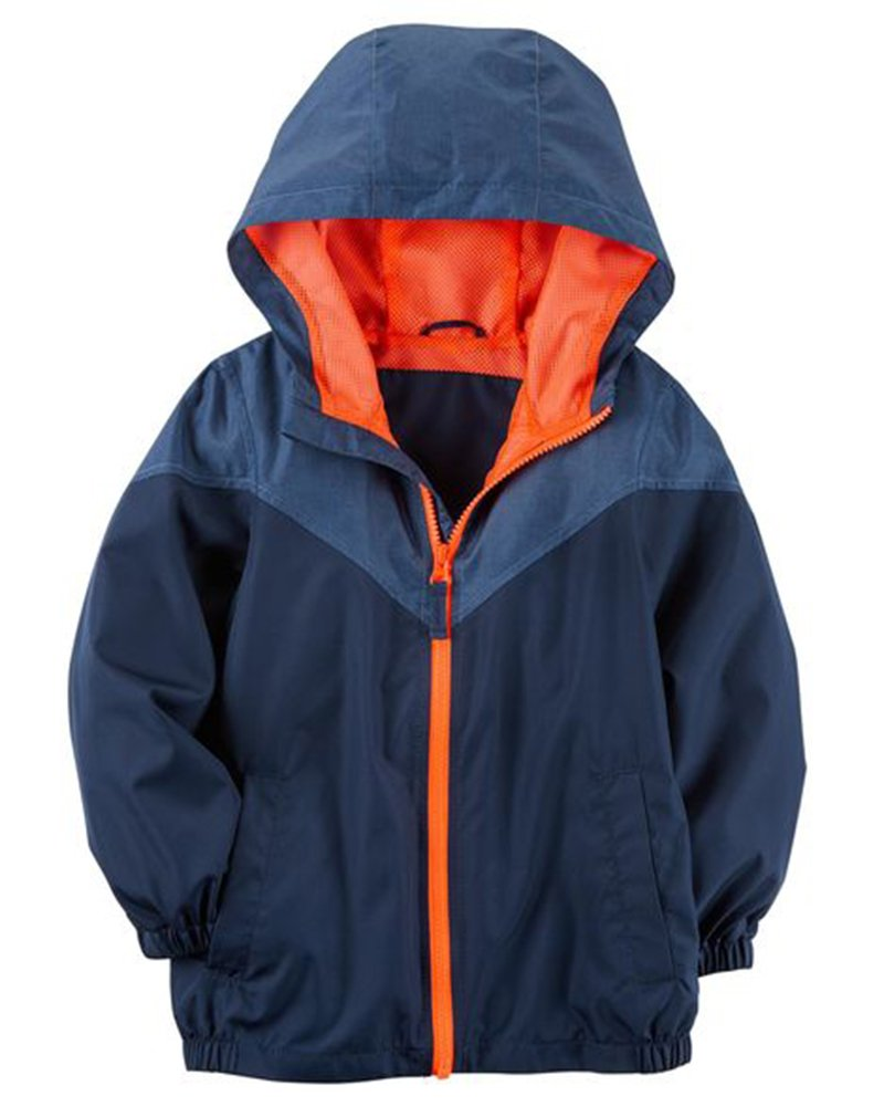 Carter's Boys Toddler Mesh Lined Windbreaker Jacket, Navy (3T)