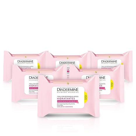 Diadermine Toallitas Hidratantes - pack de 6 x 25 Uds.