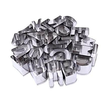 Bakery Stainless Steel Letters Shape Cookie Cutter Mold Baking Tool Set 26 in 1