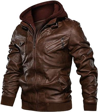 Hiver PU Cuir Veste Hommes Biker Veste Tailles Confortables