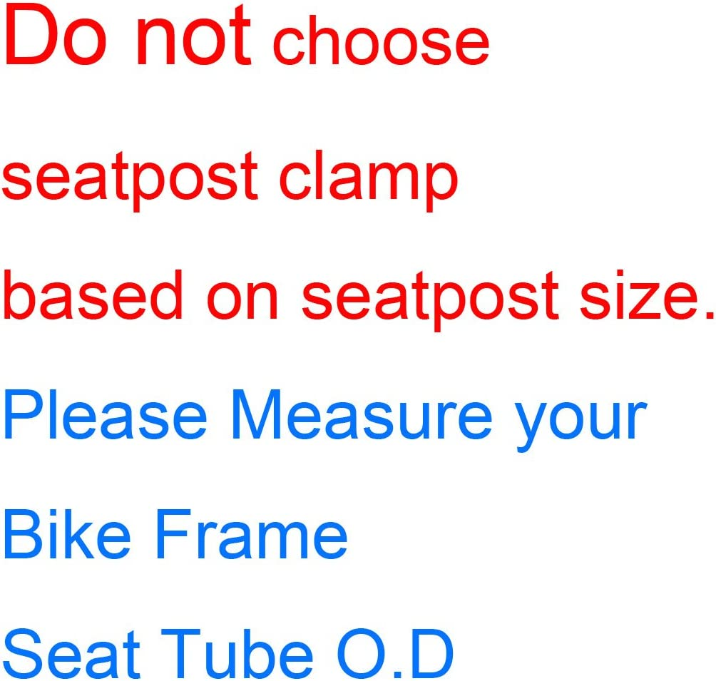 corki Quick Release Bicycle Seatpost Clamp Sandblasting Anodised Aluminum Alloy 31.8MM//34.9MM Black//Red//Blue KC89