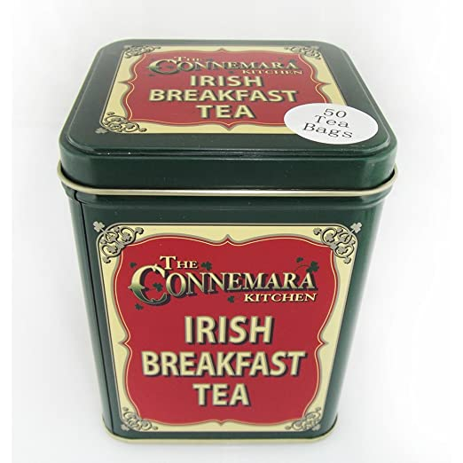 The Connemara Kitchen Traditional Irish Breakfast Tea With Vintage Style Tin
