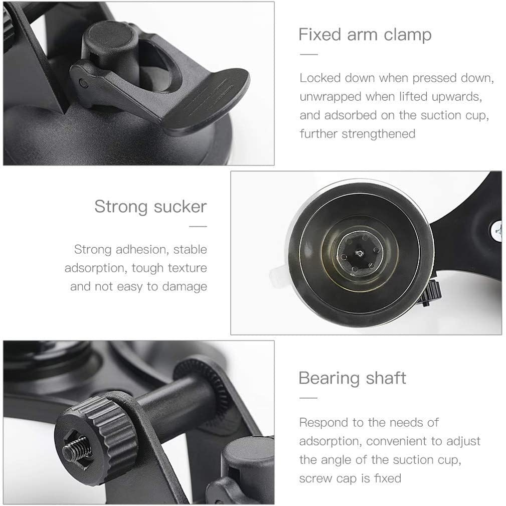 Vehicle Windshield Suction Cup Car Mount 1//4 Bracket Holder for DJI Osmo Pocket
