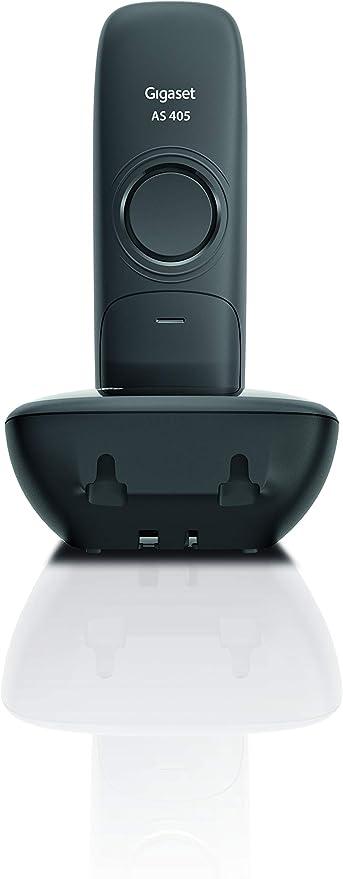 Gigaset AS405 Duo - Teléfono Inalámbrico, Pack de 2 Unidades, Manos Libres, 100 Contactos, Pantalla gráfica iluminada 1.8