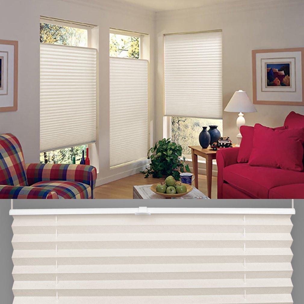 Amazon.de: Shiny Home Plissee Jalousie Verspannt, Klemmfix Faltrollo Für  Fenster Ohne Bohren, 80 Cm