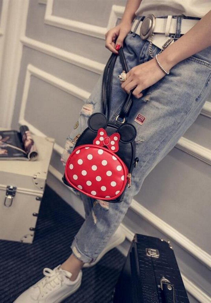 9f5e70dbbcb2 Finex Minnie Mouse Backpack Small 2-in-1 Crossbody bag Mini Backpack -  Multifunction Makeup Travel Mini...