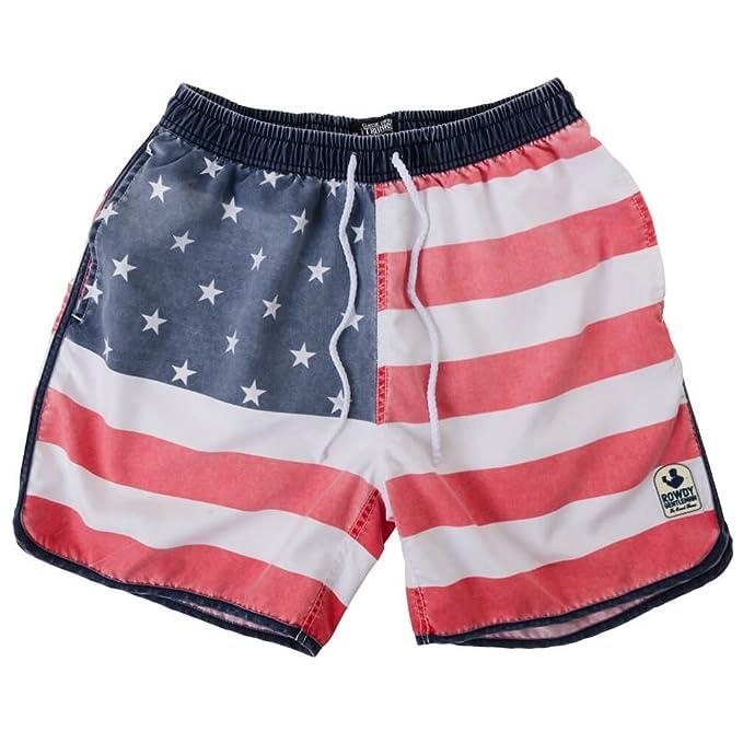 Rowdy Gentleman hombres pantalones de Faded la bandera americana bandera de Estados Unidos - Multi -