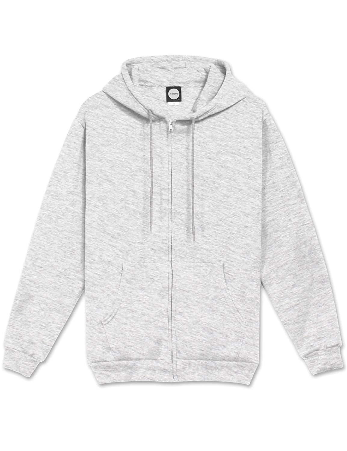 6819dc732cb JC DISTRO Mens Hipster Hip Hop Basic Unisex Zip-Up Hoodie Jacket (Size Upto  5XL Big Size) at Amazon Men s Clothing store