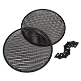 """WEONE Durable Black 12"""" Car Audio Subwoofer Speaker Cover 12.2x0.67"""" Mesh Grill Pack Of 2"""