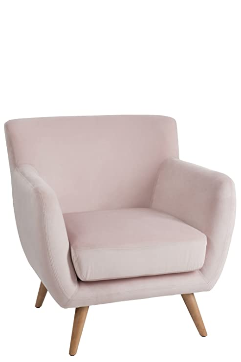 J-line - Sillon Mel 1 Plaza Terciopelo Rosa Color Rosa de ...