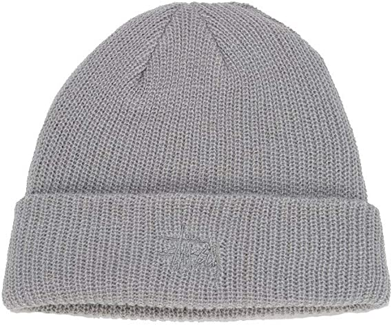 Stussy Basic FA18 Bonnet Gris chiné Amazon.fr Vêtements et