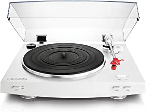 Audio-Technica AT-LP3WH Fully Automatic Belt-Drive Stereo Turntable, White