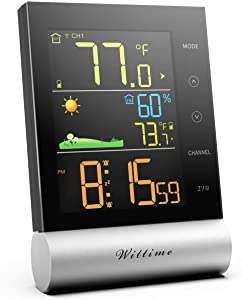 Wittime 2079 Wireless Weather Station,Indoor Outdoor Thermometer
