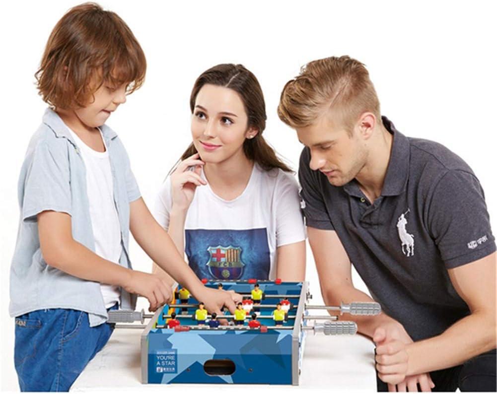 Lcyy-game Mesa futbolín, Mini Deportes Arcade de fútbol para Sala de Juegos, Accesorios incluidos Azul: Amazon.es: Hogar