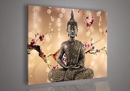 Amazon.com: Handmade Wall Decor Modern Abstract Buddha Art Canvas ...