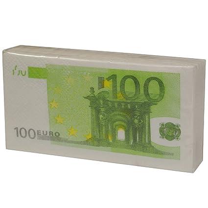gamme exclusive Site officiel gamme exceptionnelle de styles Lot 10 Mouchoirs Papier Aspect Liasse Billet 100 Euros