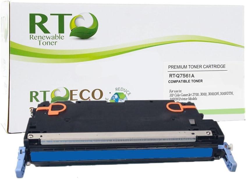 Renewable Toner Compatible Toner Cartridge Replacement for HP 314A Q7561A Color Laserjet 27003000 (Cyan)