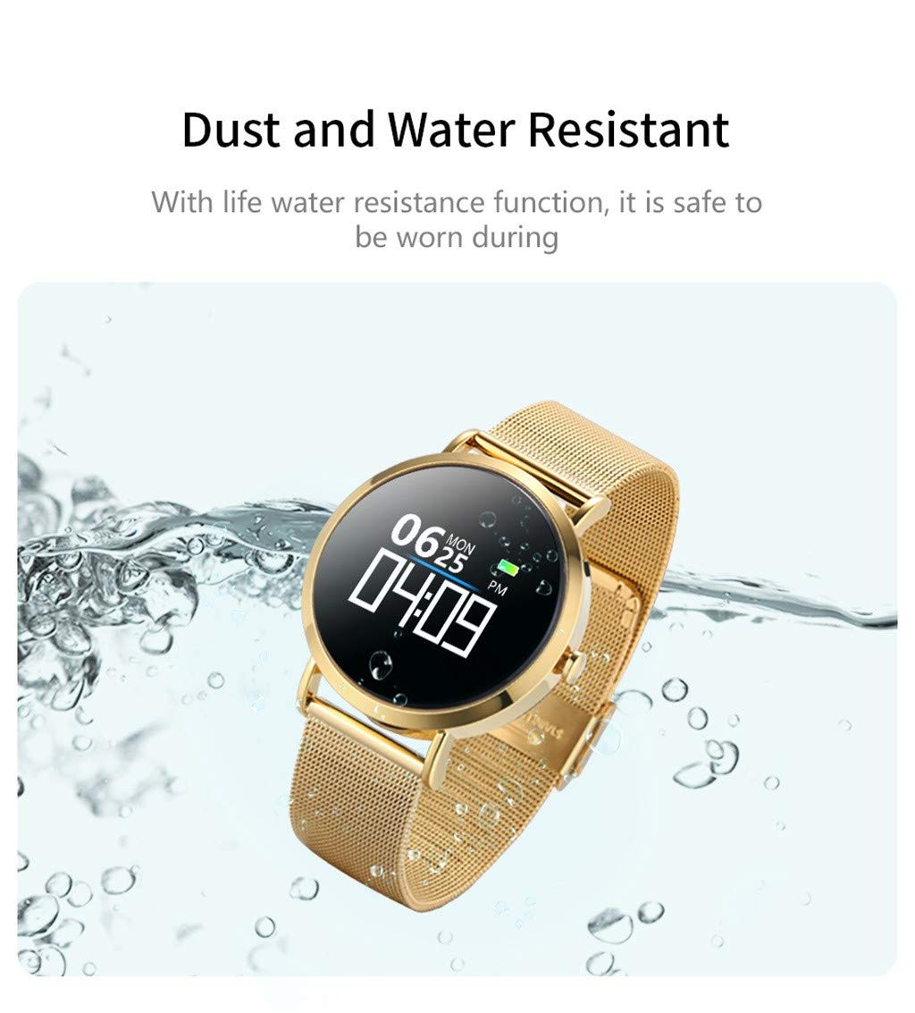 For iOS Android, Waterproof Sport Smart Watch Fitness Activity Blood Pressure Heart Rate Sleep Monitoring Smart Bracelet (A) by YNAA (Image #2)