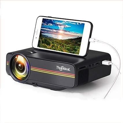 Amazon.com: Mini proyector DZSF YG410 1800 lúmenes con ...