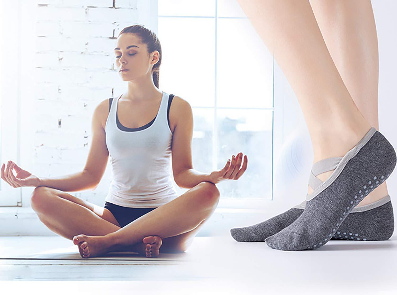 Pure Barre Calzini Pilates Antiscivolo per Yoga Danza ZoWe Antiscivolo Calze Donna Pilates Ballo a Piedi Nudi Balletto Fitness