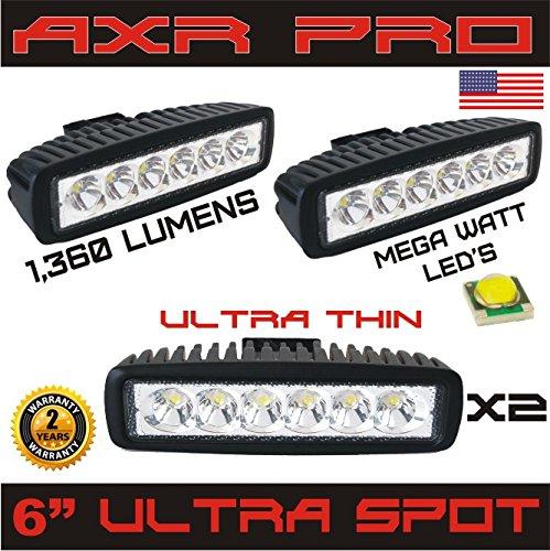 LED Light Bar AXR PRO 2PCS 18w Spot Lights Led Pods Off Road Work Light Led Fog Lights Bar Driving led Lights Truck Jeep Lamp Boat Lights 2 years Warranty
