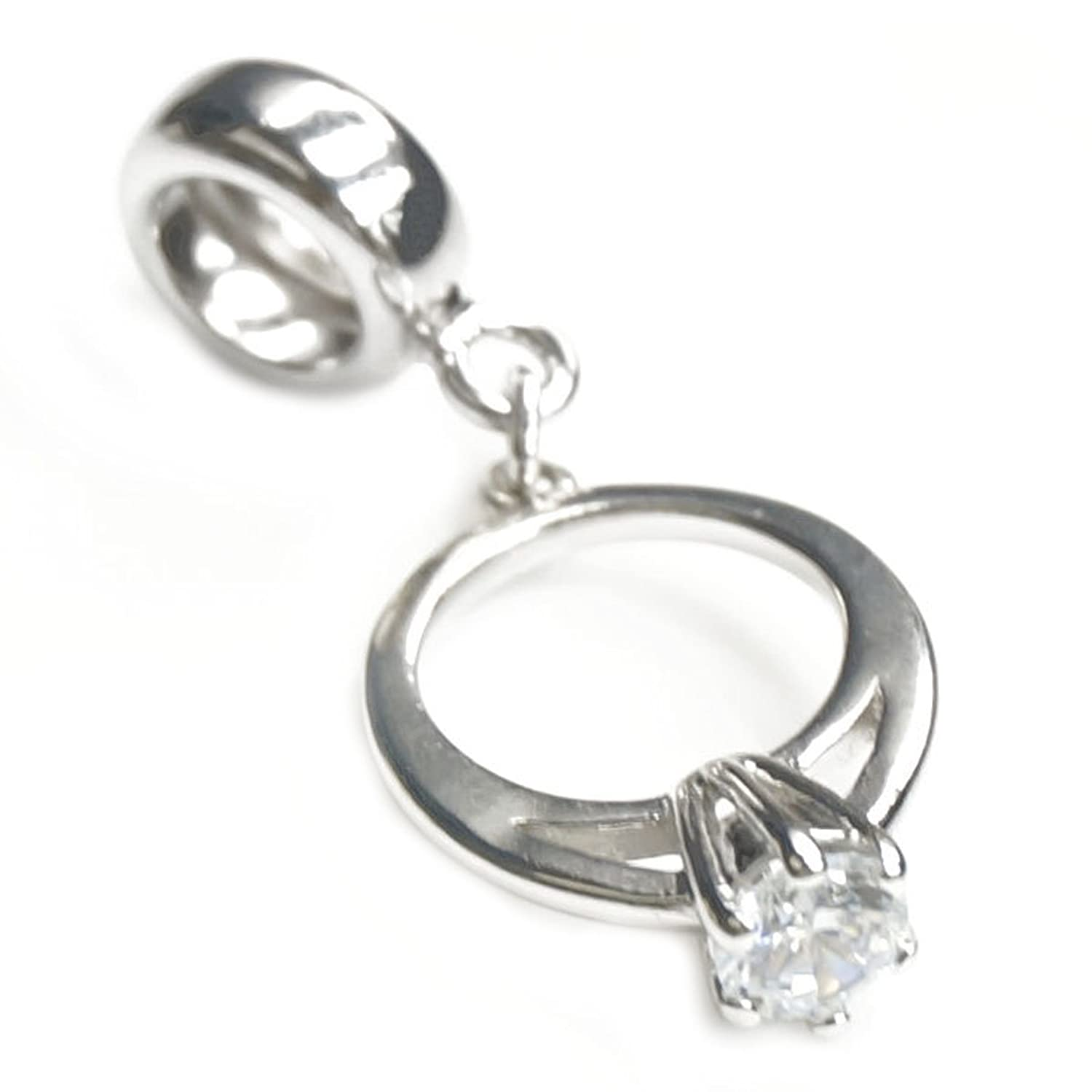 Amazoncom Sterling Silver Engagement Wedding Ring Clear Cubic