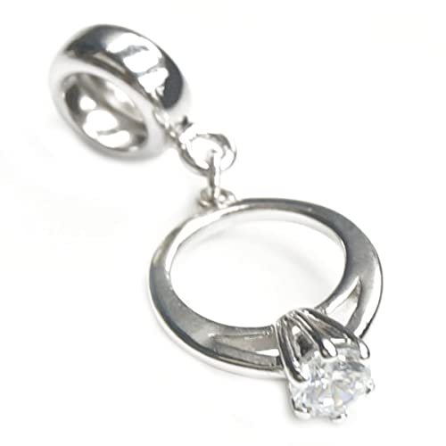 diamond ring charm