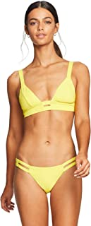product image for Vitamin A Women's Yellow Ecolux Neutra Neon Bralette Bikini Top