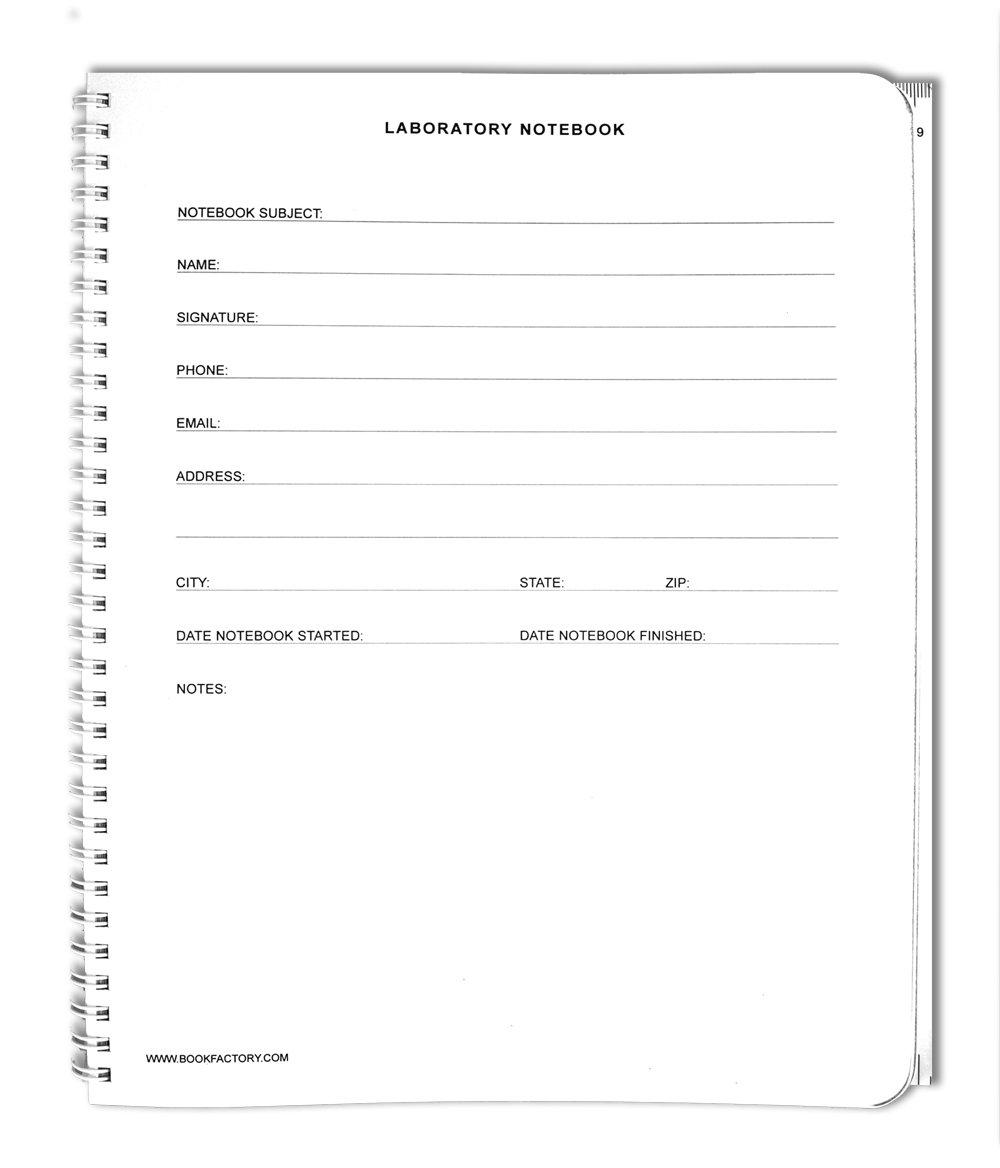 bookfactory® autocopiativo Lab Portatil (Scientific Grid Formato), de 25 Conjuntos de Formato), páginas – 50 hojas – Duplicador [encuadernado de anillas.] Total (lab-wtg-size-color-main) cd74a7