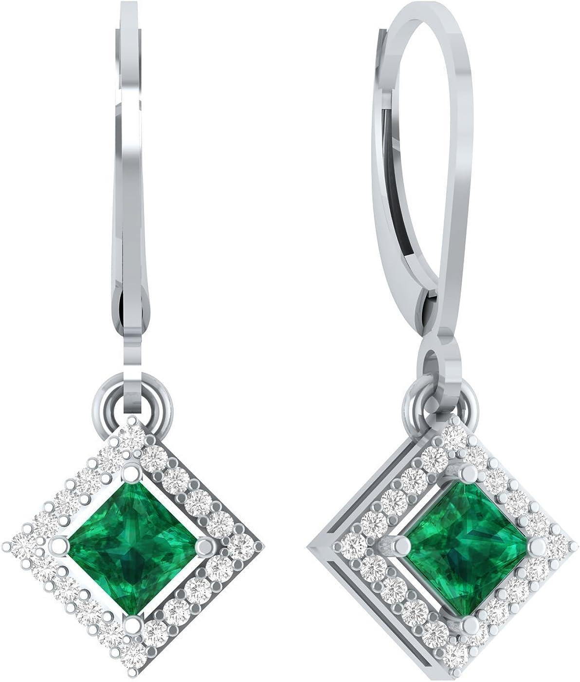Silverraj Jewels 14K Gold Plated Simulated Diamond Studded Designer Hoop Earrings