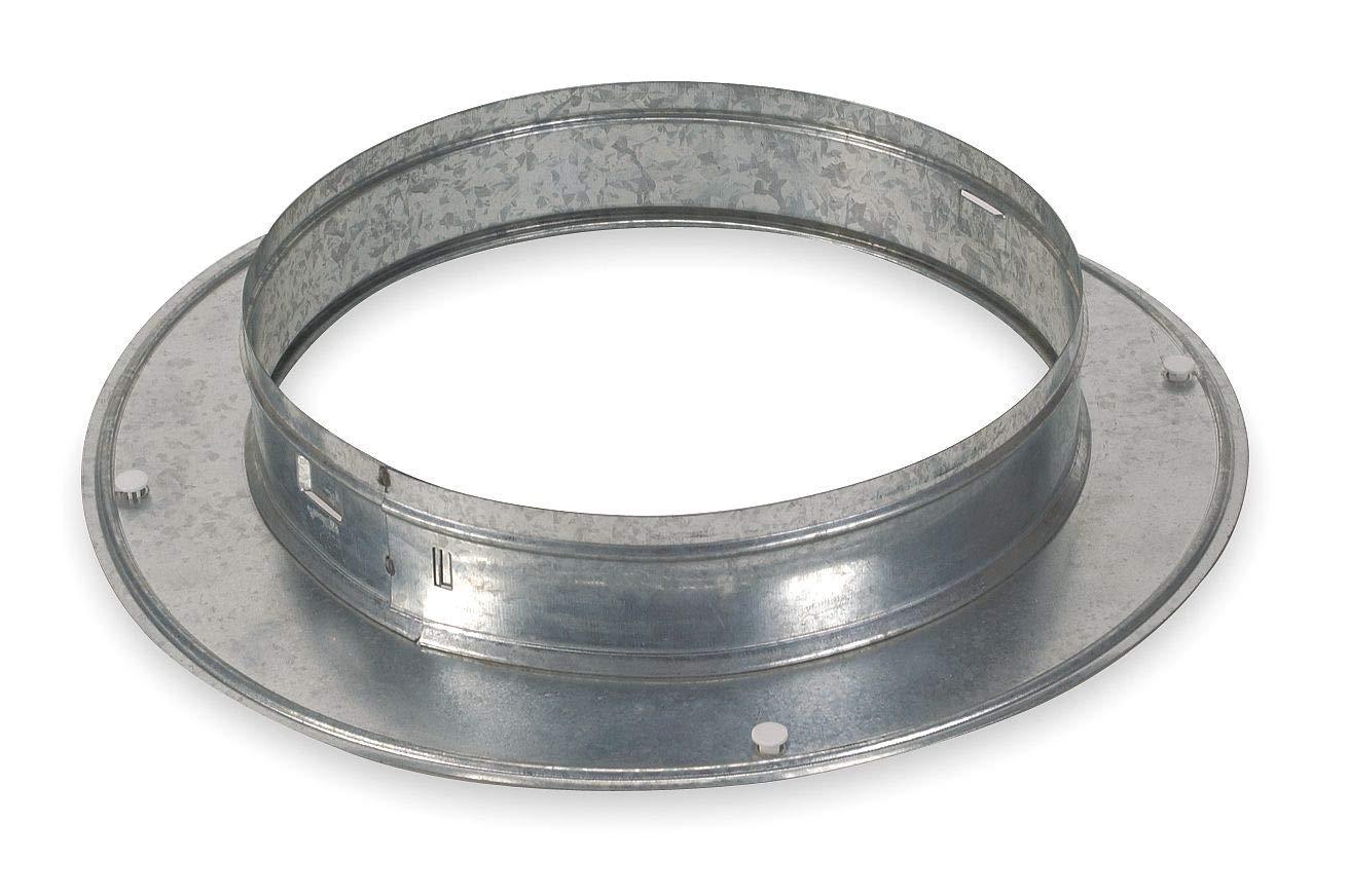 Snap On Collar, Round, Galvanized Steel - 4JRN5