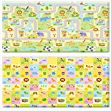 JTI - PARKLON NON TOXIC DUAL SIDED BABY PLAY MAT EXTRA LARGE - SMILE TOWN SOFT MAT (235x140x1.6cm, 93x55x0.63in, 8x5x0.05ft)
