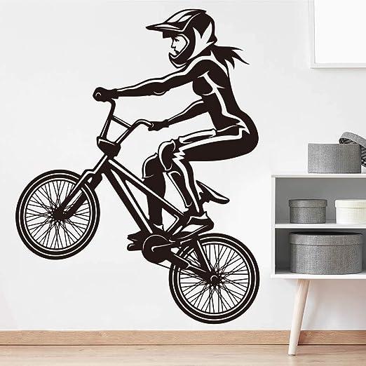 haochenli188 Pegatina de Pared Grande para Bicicleta BMX Girl ...