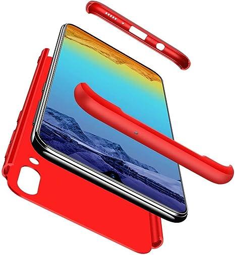 Qsdd Reemplazo para Samsung Galaxy M10 360°Protección 3 en 1 Funda ...