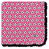 Kickee Pants Little Girls Print Ruffle Toddler Blanket - Flamingo Soccer, One Size