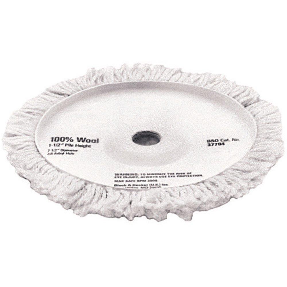 DEWALT DW4988 7-1/2-Inch Wool Polishing Pad 1-1/2-Inch Pile by DEWALT