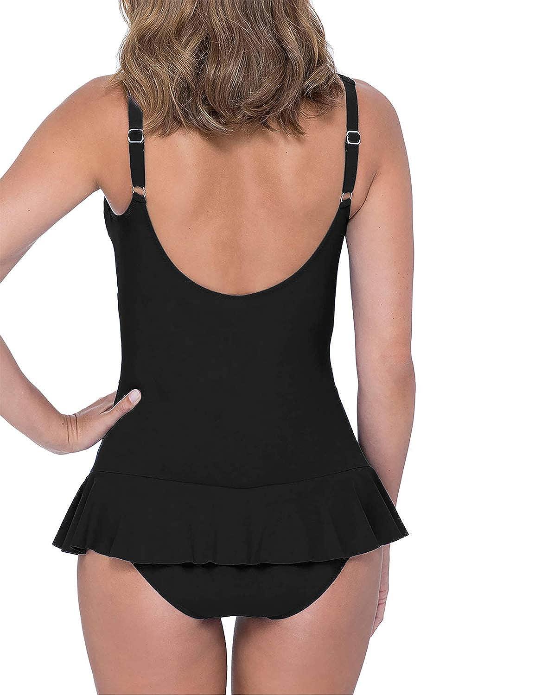 Bmjl Womens Plus Size Swimwear One Piece Swimsuit V Neck Tummy