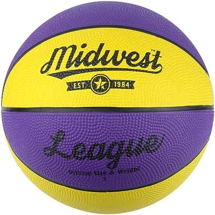 Midwest niños de la Liga de Baloncesto, Color Amarillo/Morado ...