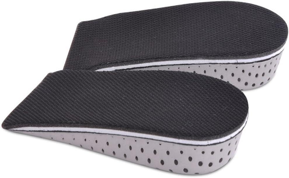TININNA 1 par Espuma de la Memoria Respirable Altura Invisible Aumento Zapato Almohadillas Plantillas para Hombres Mujeres,3.3 cm
